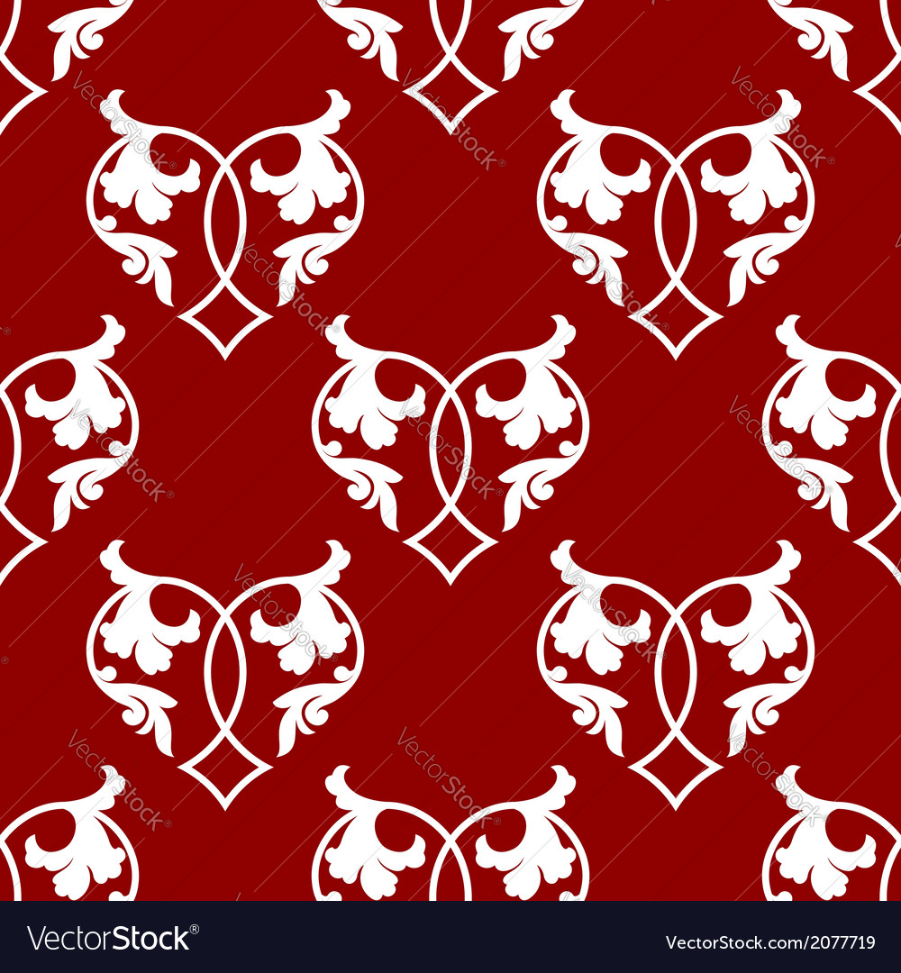 Seamless pattern of floral hearts vector | Price: 1 Credit (USD $1)