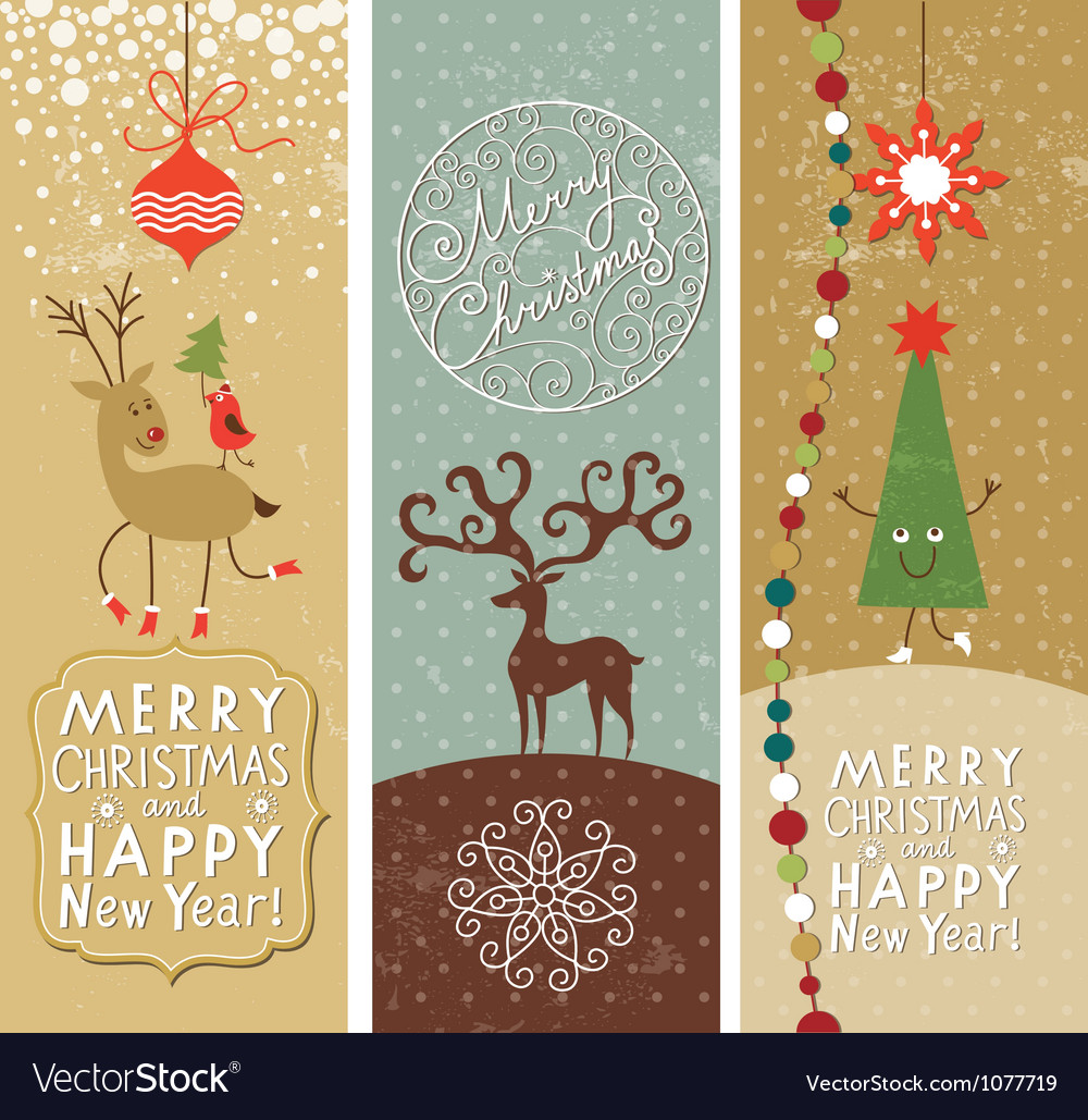 Set of christmas and new year banners vector | Price: 3 Credit (USD $3)