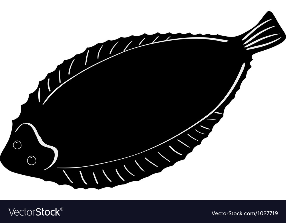 Silhouette of sole fish vector | Price: 1 Credit (USD $1)