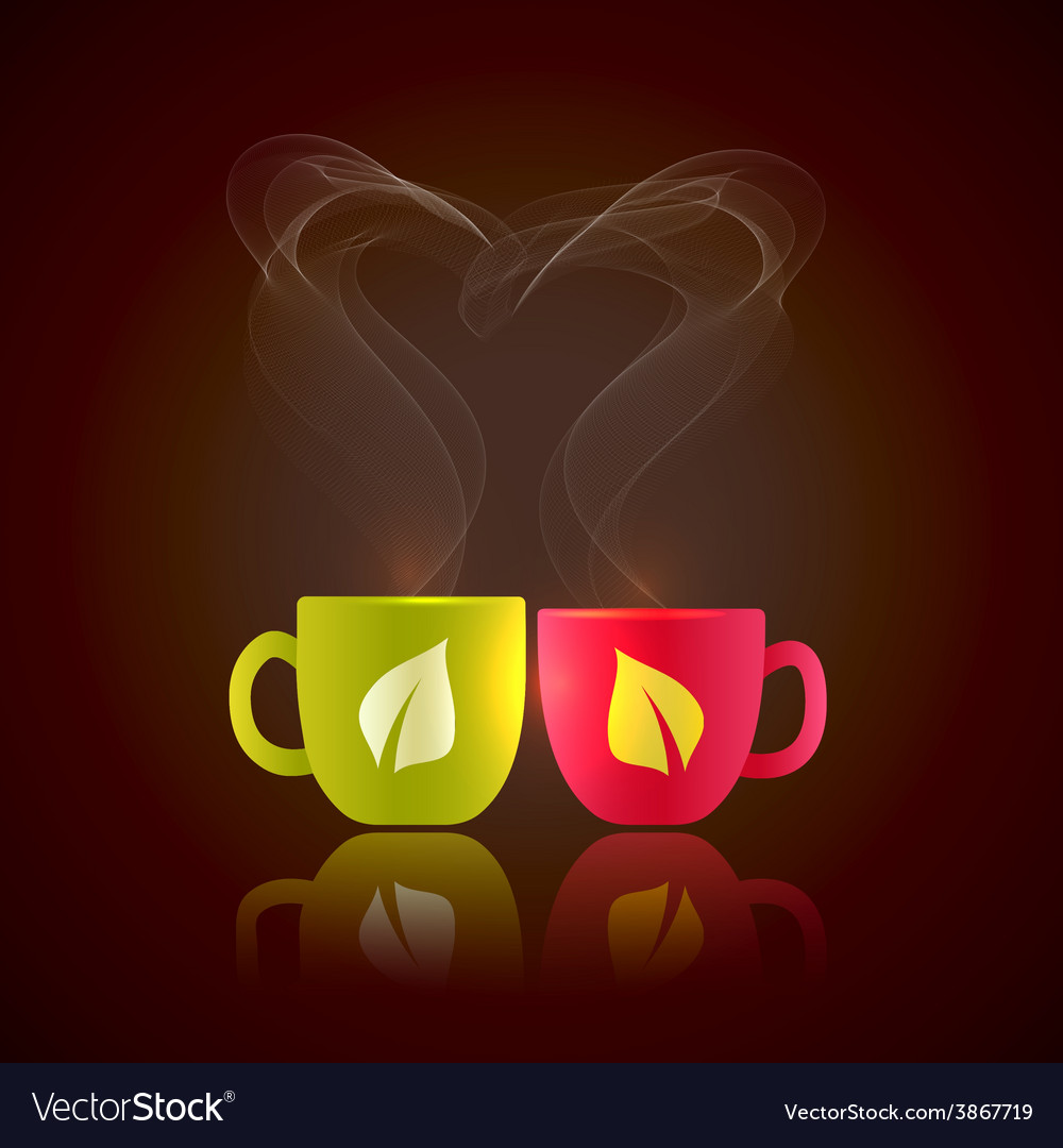 Two cups of tea vector | Price: 1 Credit (USD $1)