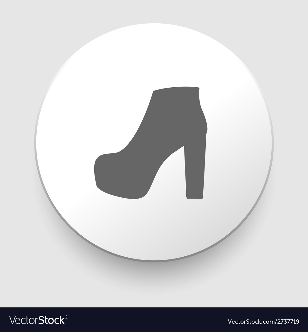 Womens shoes icon vector | Price: 1 Credit (USD $1)