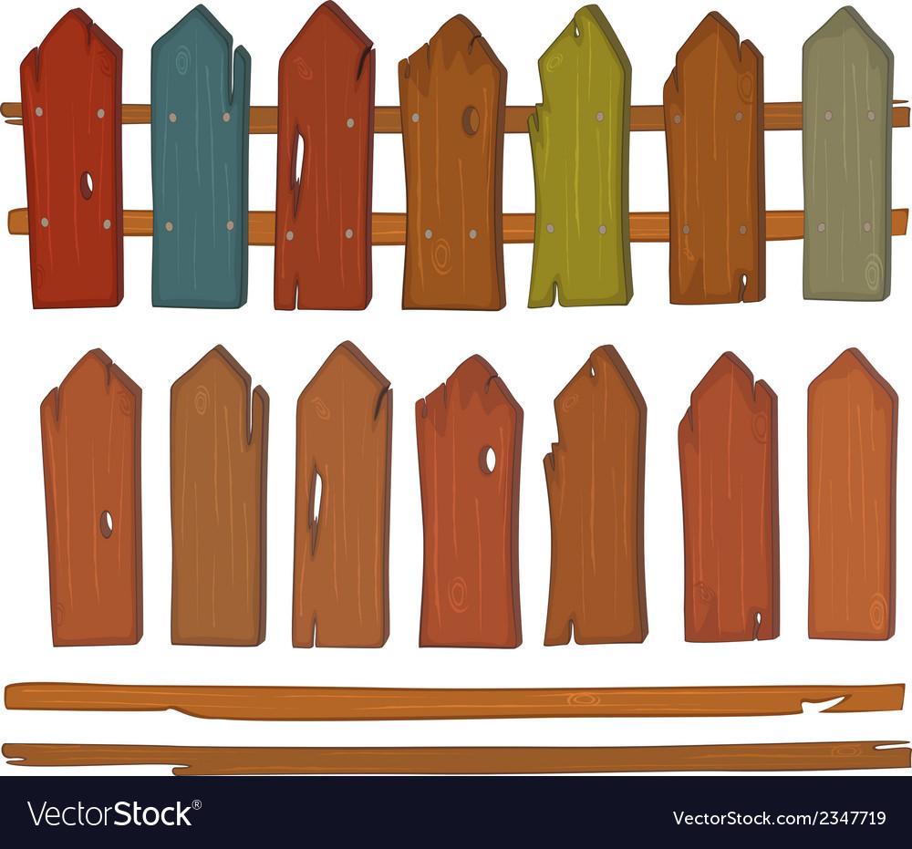Wooden fence cartoon vector | Price: 1 Credit (USD $1)