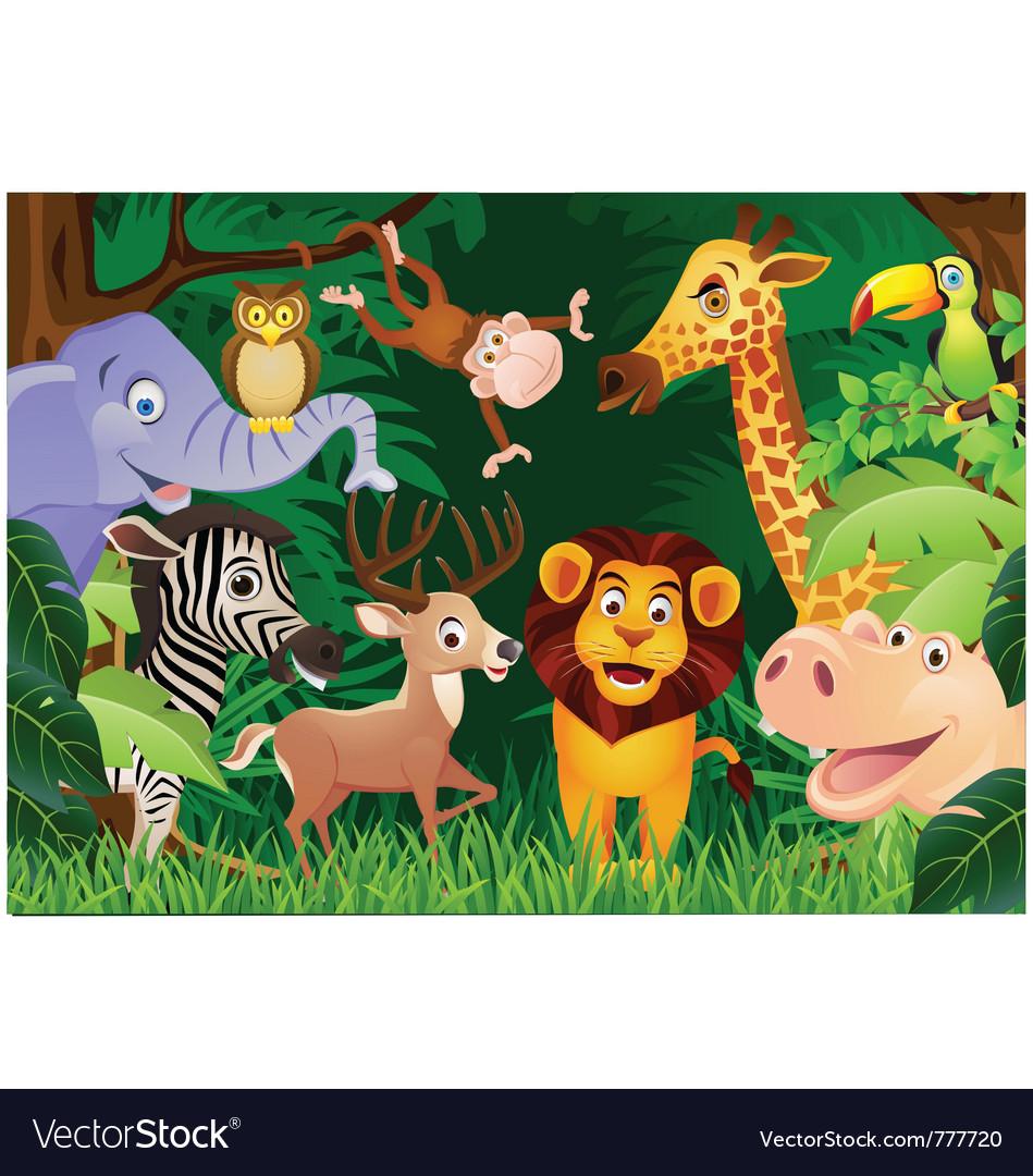 Animal cartoon vector | Price: 5 Credit (USD $5)