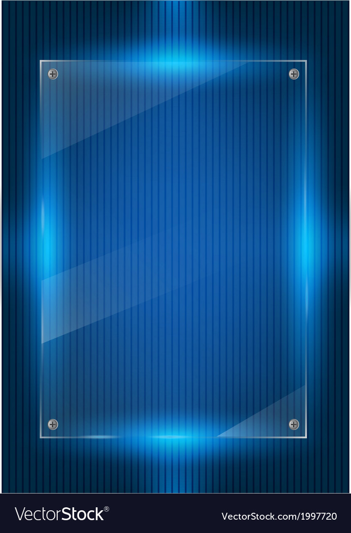 Blue digital background and glass panels vector | Price: 1 Credit (USD $1)