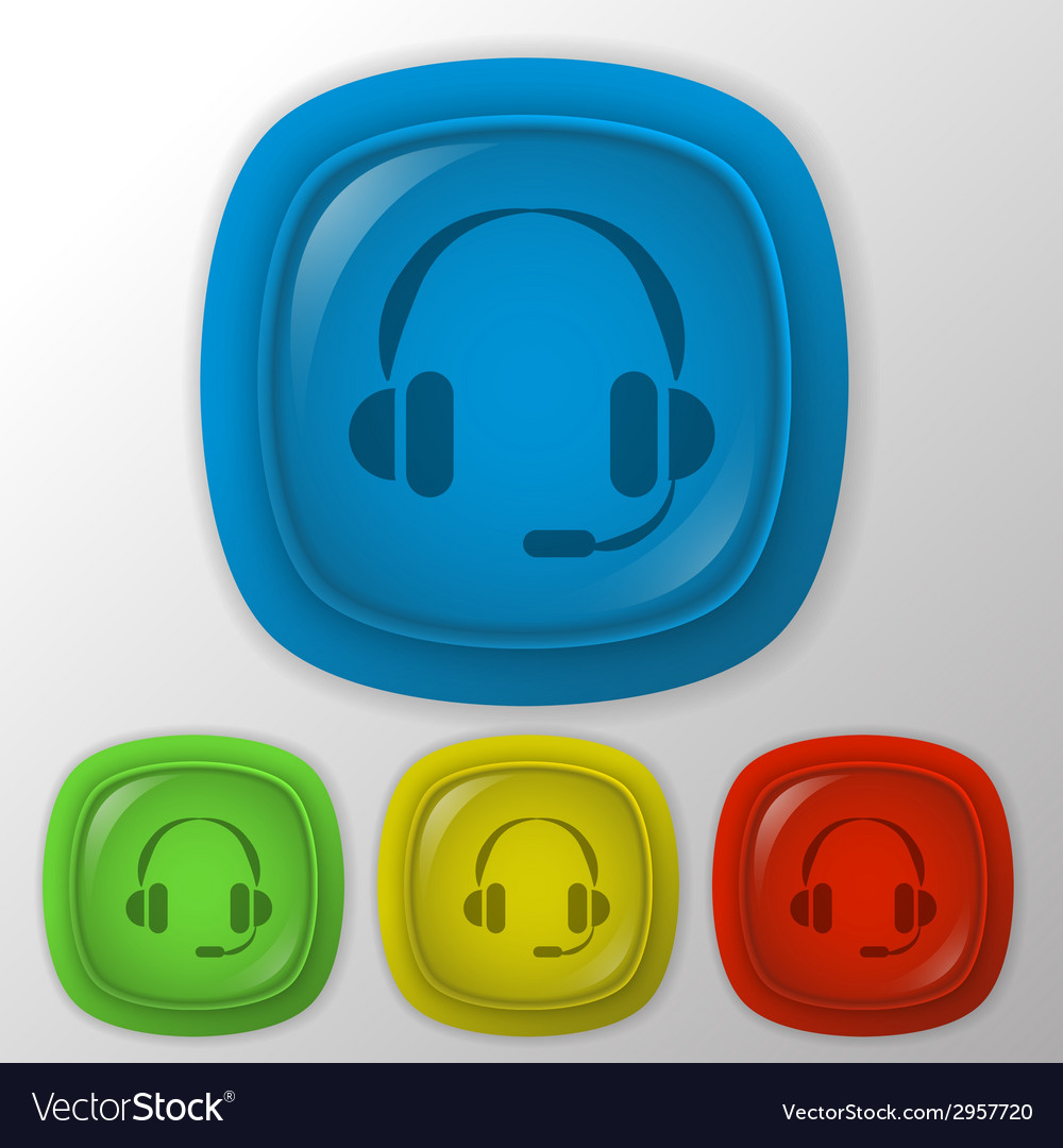 Customer support headphone vector | Price: 1 Credit (USD $1)