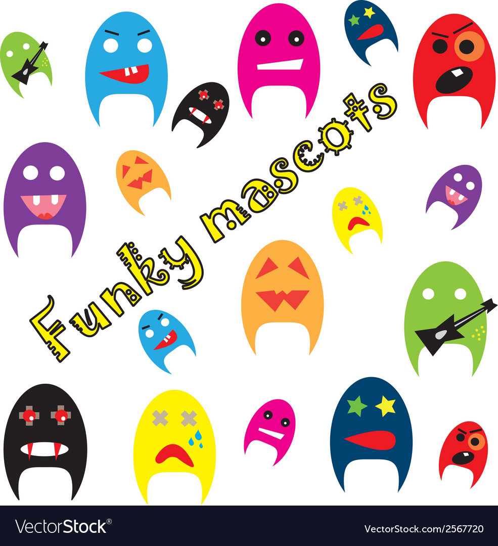 Funky mascots vector | Price: 1 Credit (USD $1)