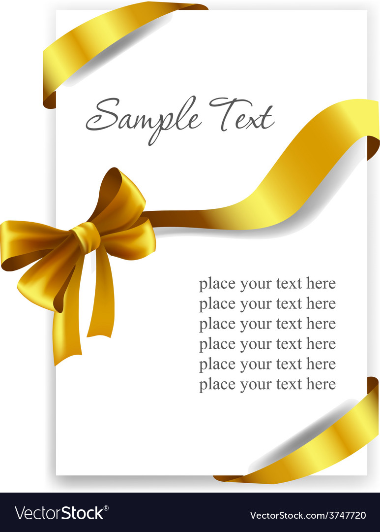 Gold gift bow with ribbons vector | Price: 3 Credit (USD $3)