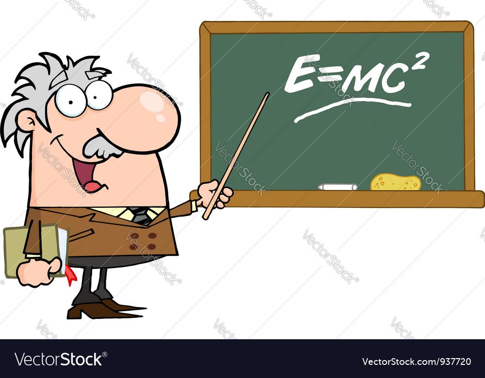 Happy caucasian science professor vector | Price: 3 Credit (USD $3)