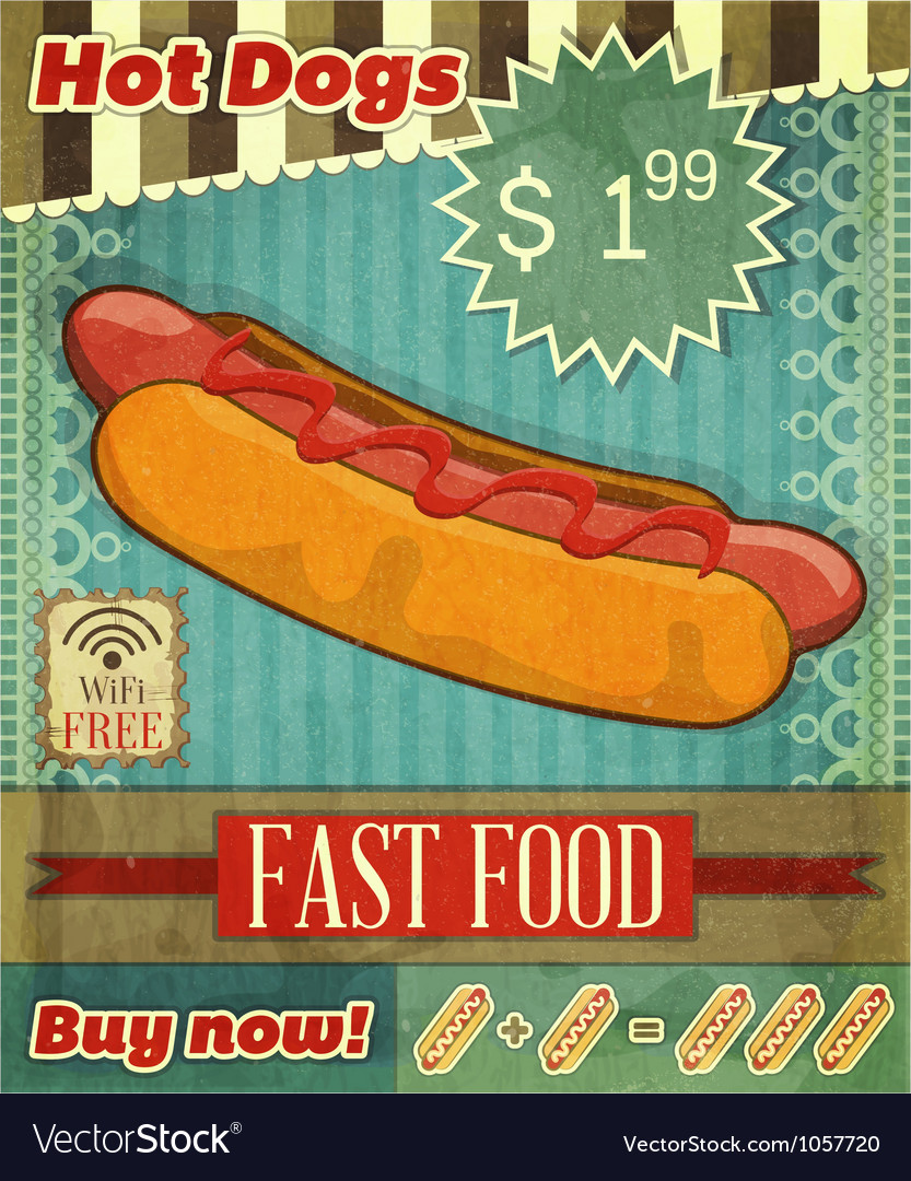 Hot dog vector | Price: 3 Credit (USD $3)
