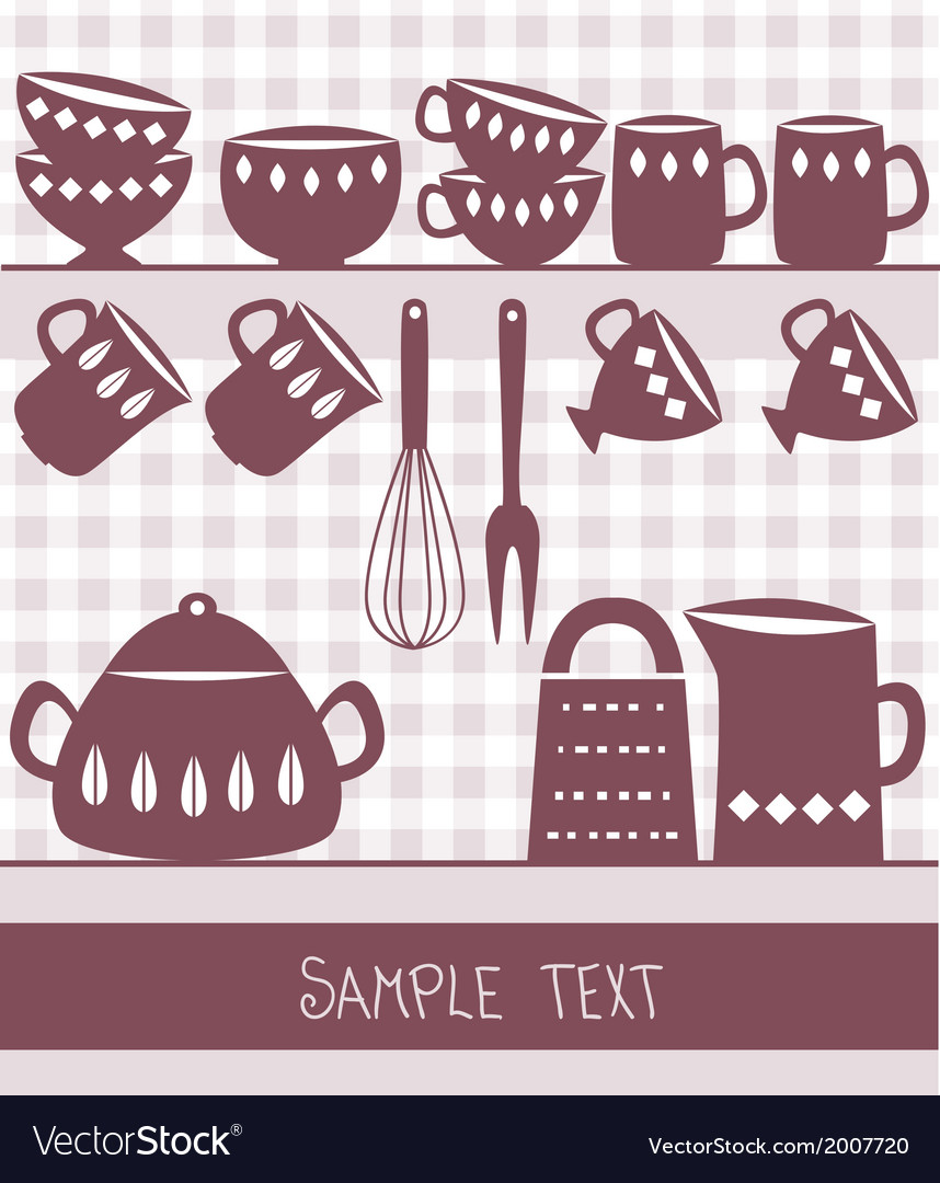 Kitchen utensils design vector | Price: 1 Credit (USD $1)