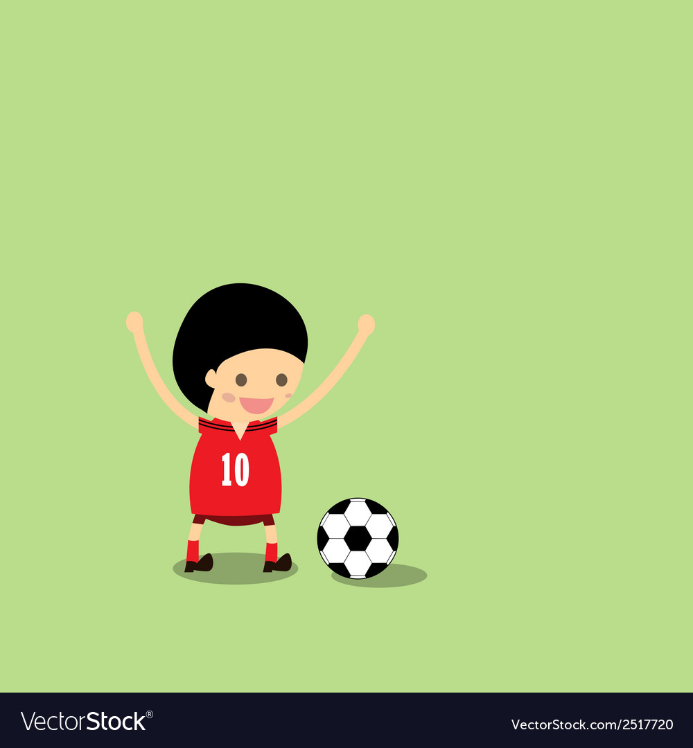 Little boy in soccer gear about vector | Price: 1 Credit (USD $1)