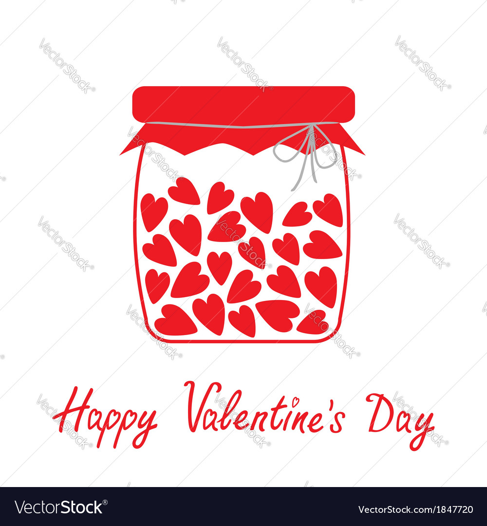 Love bottle with hearts inside happy valentines da vector   Price: 1 Credit (USD $1)