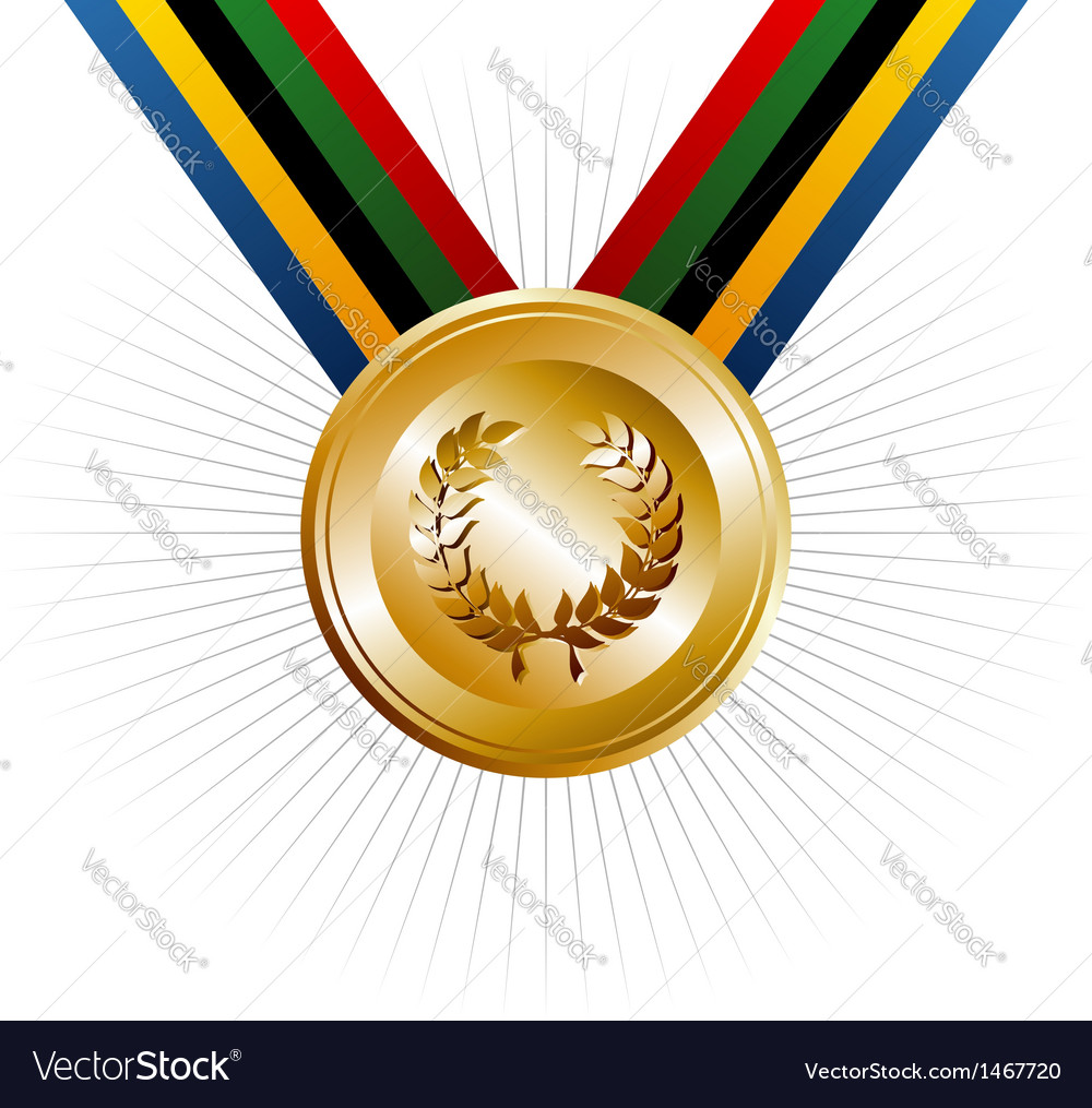 Olympics games gold medal vector | Price: 1 Credit (USD $1)