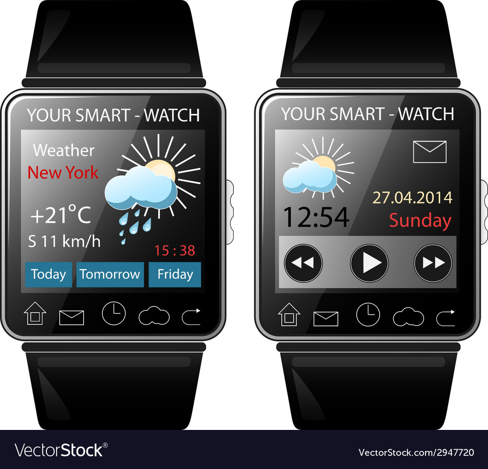 Smart-watch vector | Price: 1 Credit (USD $1)