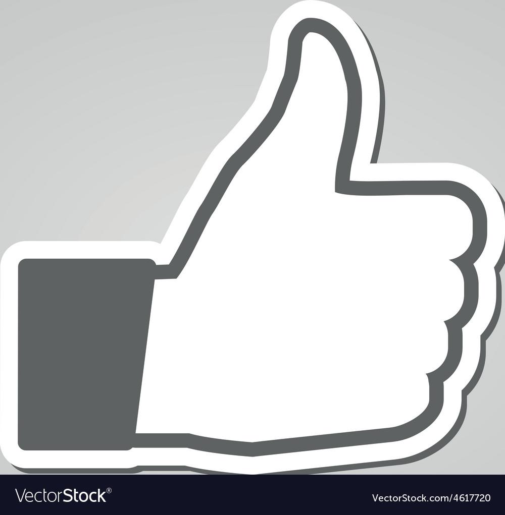 Social like icon vector | Price: 1 Credit (USD $1)