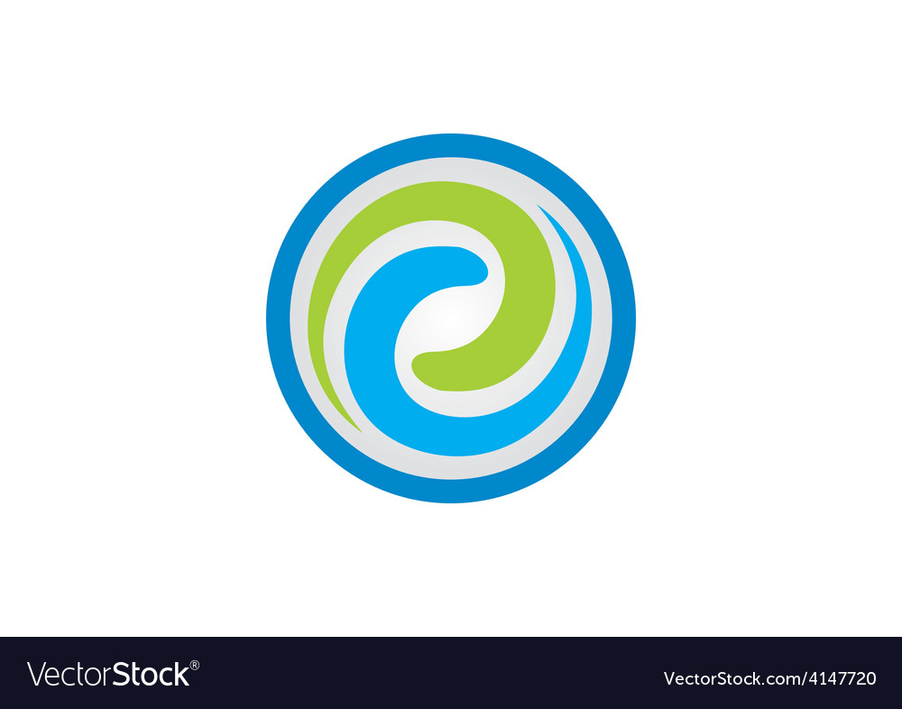 Swirl circular abstract logo vector | Price: 1 Credit (USD $1)