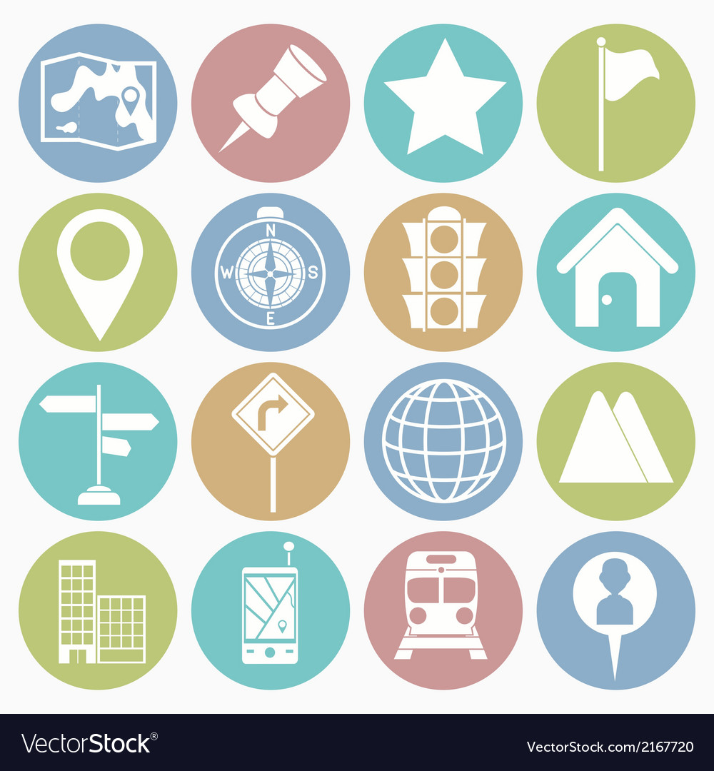 White icons map vector | Price: 1 Credit (USD $1)
