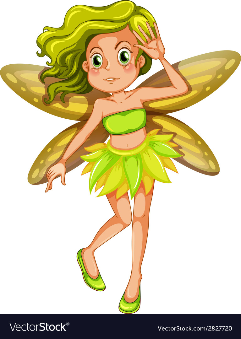 Yellow fairy vector | Price: 1 Credit (USD $1)