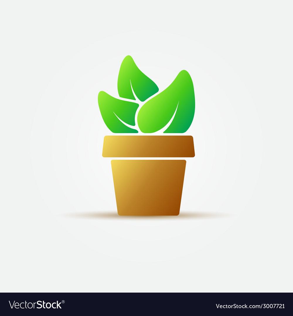 Bright houseplant icon vector | Price: 1 Credit (USD $1)