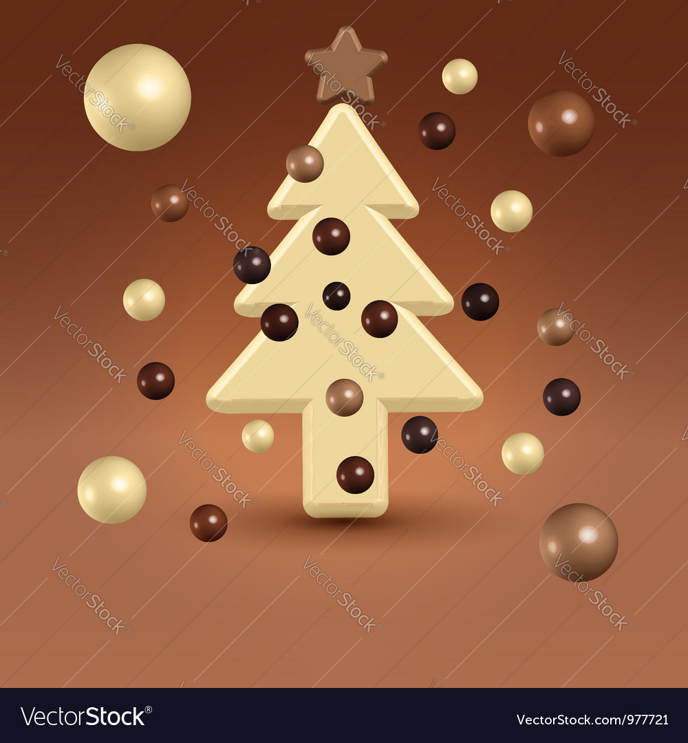 Chocolate christmas tree decorations vector | Price:  Credit (USD $)