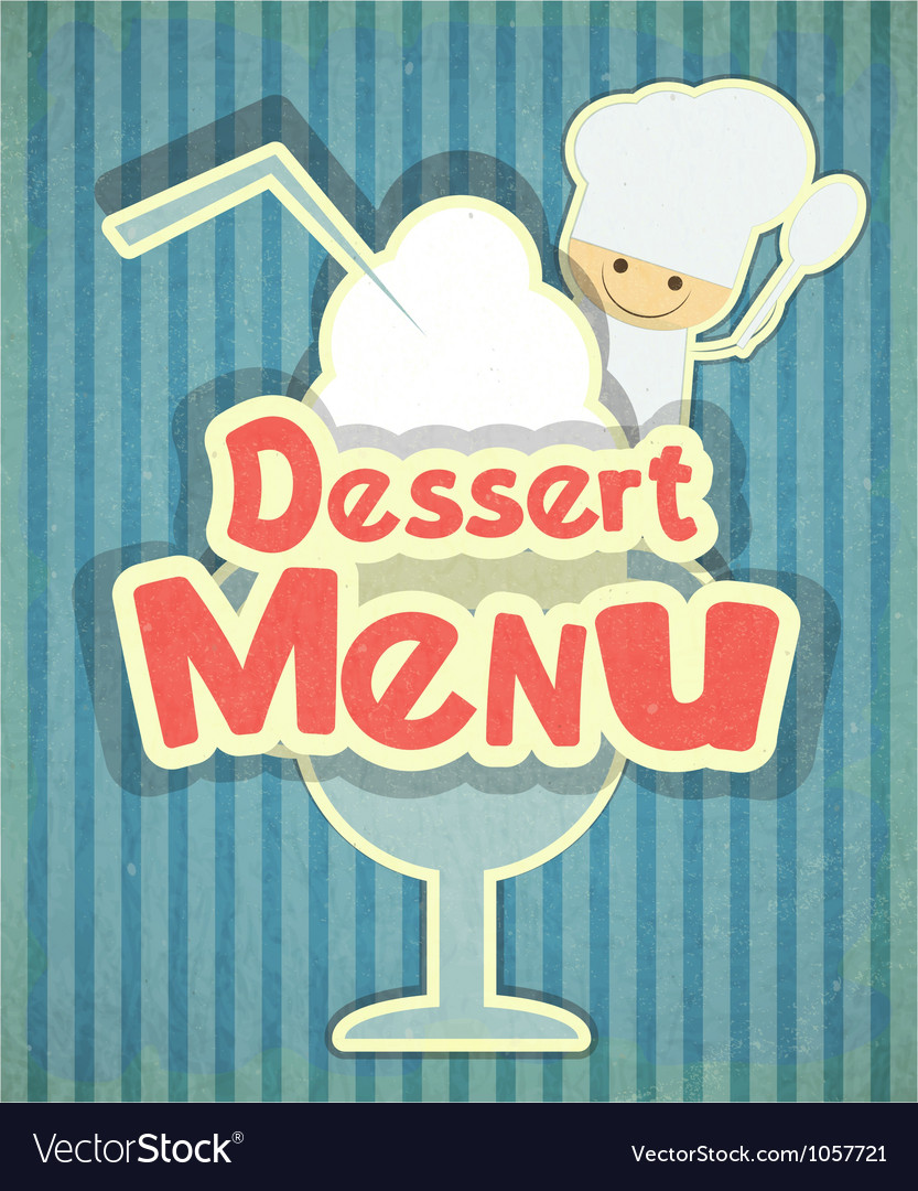 Dessert menu vector | Price: 3 Credit (USD $3)