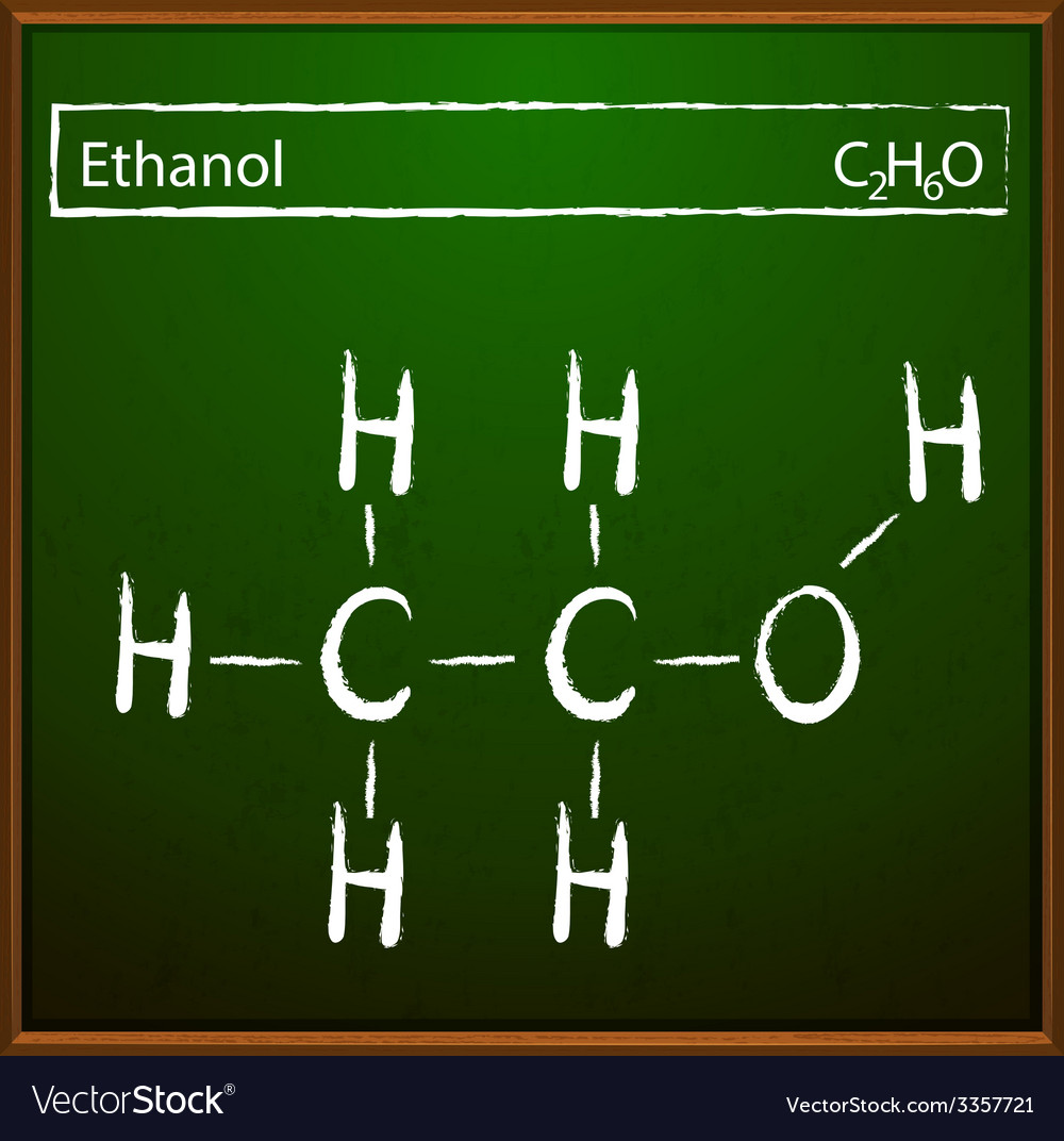 Ethanol molecular formula vector | Price: 1 Credit (USD $1)