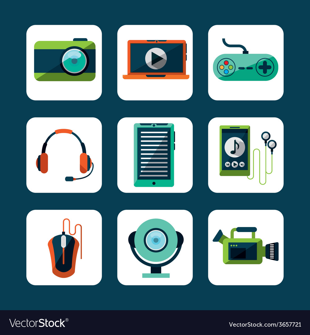 Gadget tech design vector | Price: 1 Credit (USD $1)