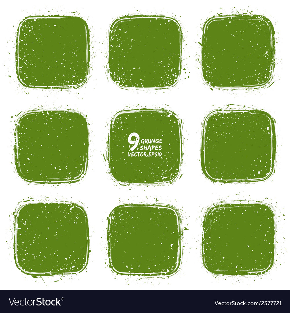 Grunge retro green shapes vector | Price: 1 Credit (USD $1)