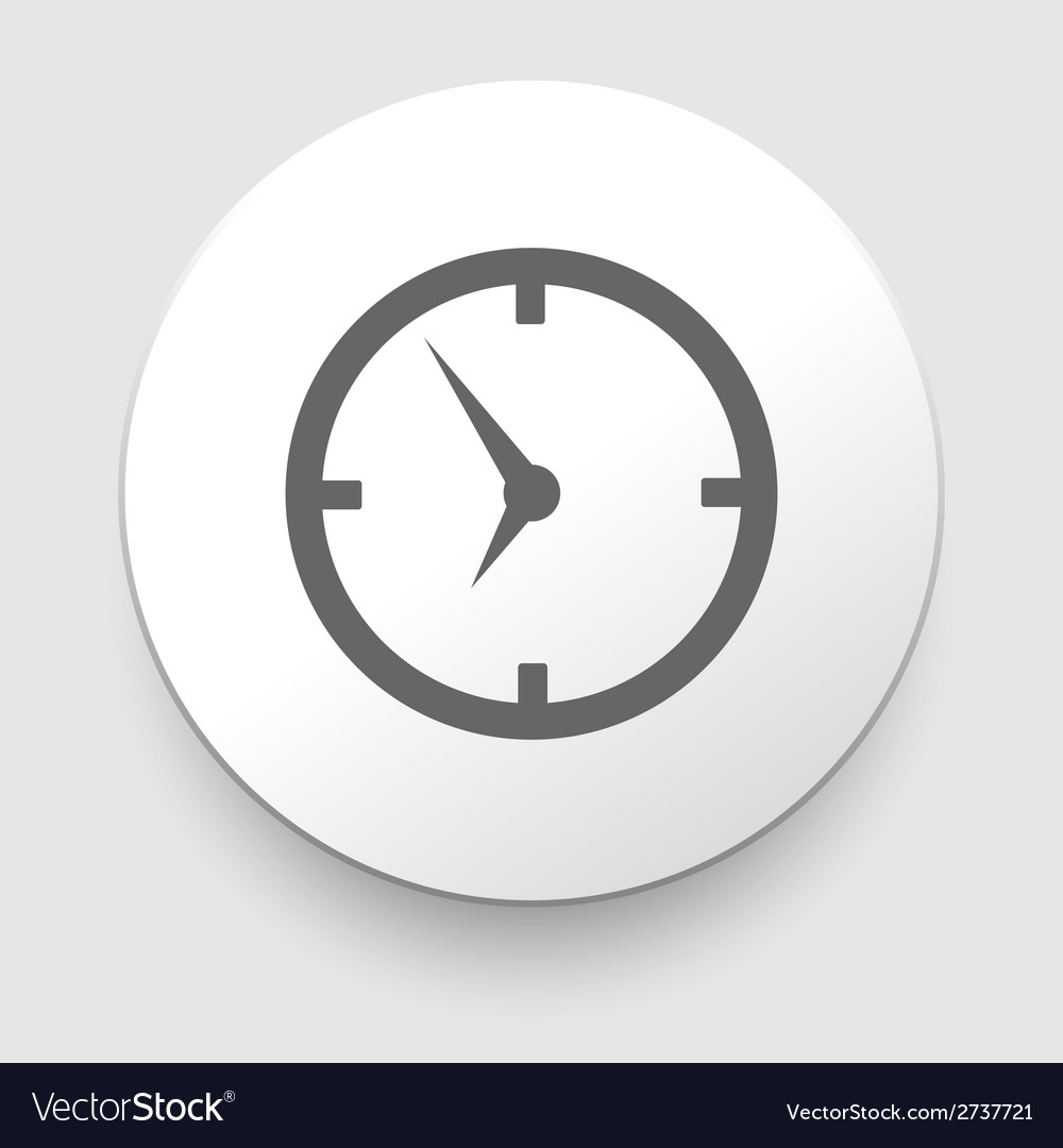 Icon clock with shadow vector | Price: 1 Credit (USD $1)