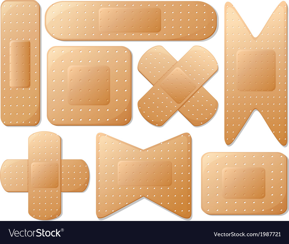 Medical plasters vector | Price: 1 Credit (USD $1)