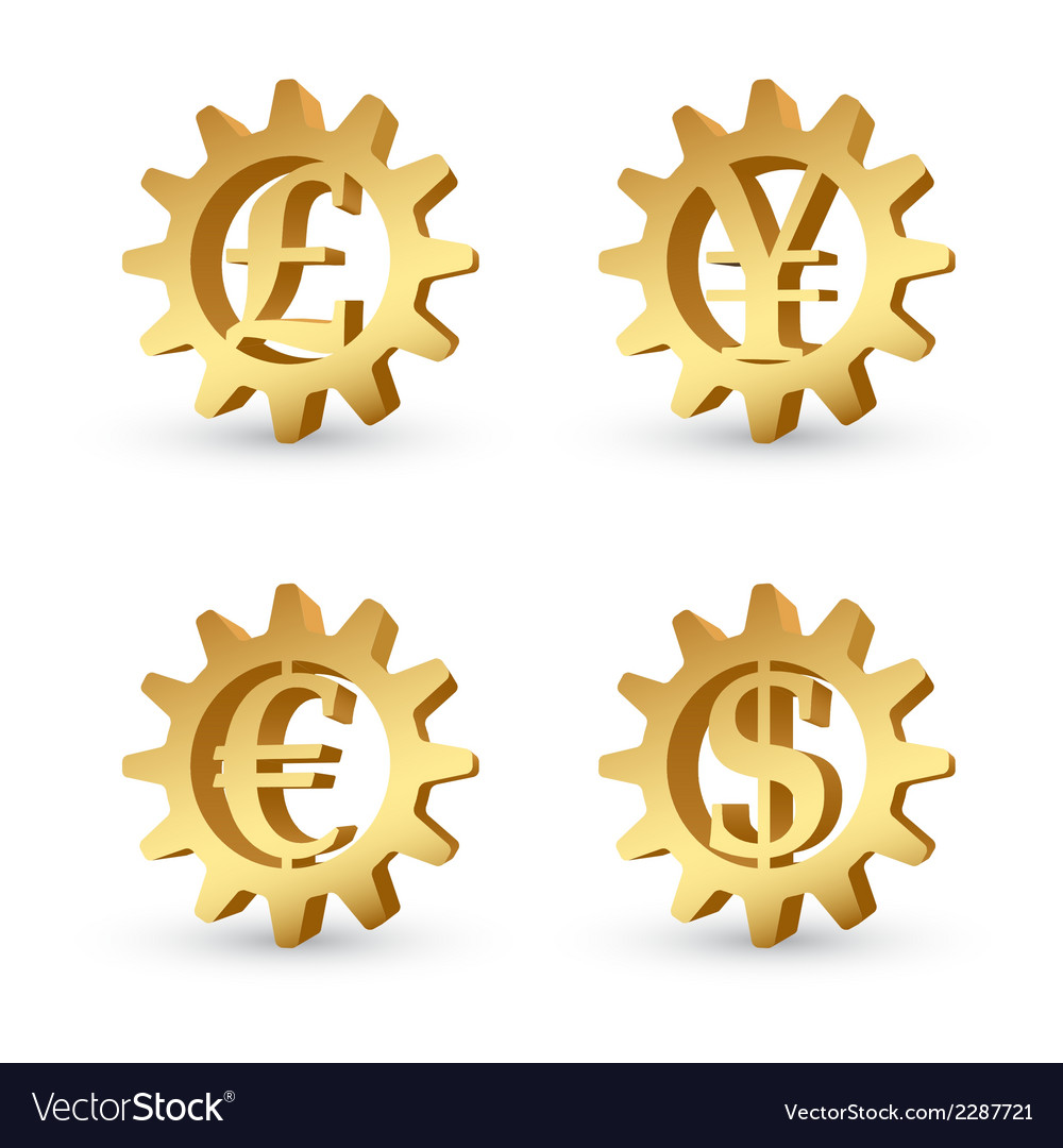 Money gears 3 vector | Price: 1 Credit (USD $1)