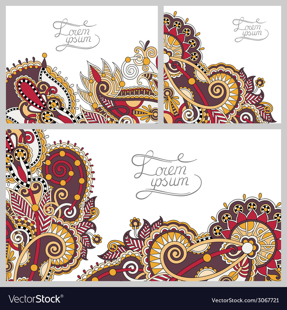 Set of floral decorative background template frame vector   Price: 1 Credit (USD $1)