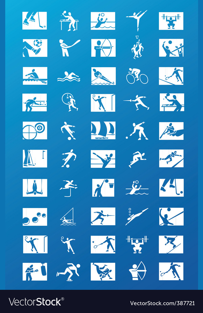 Sports icons vector | Price: 1 Credit (USD $1)