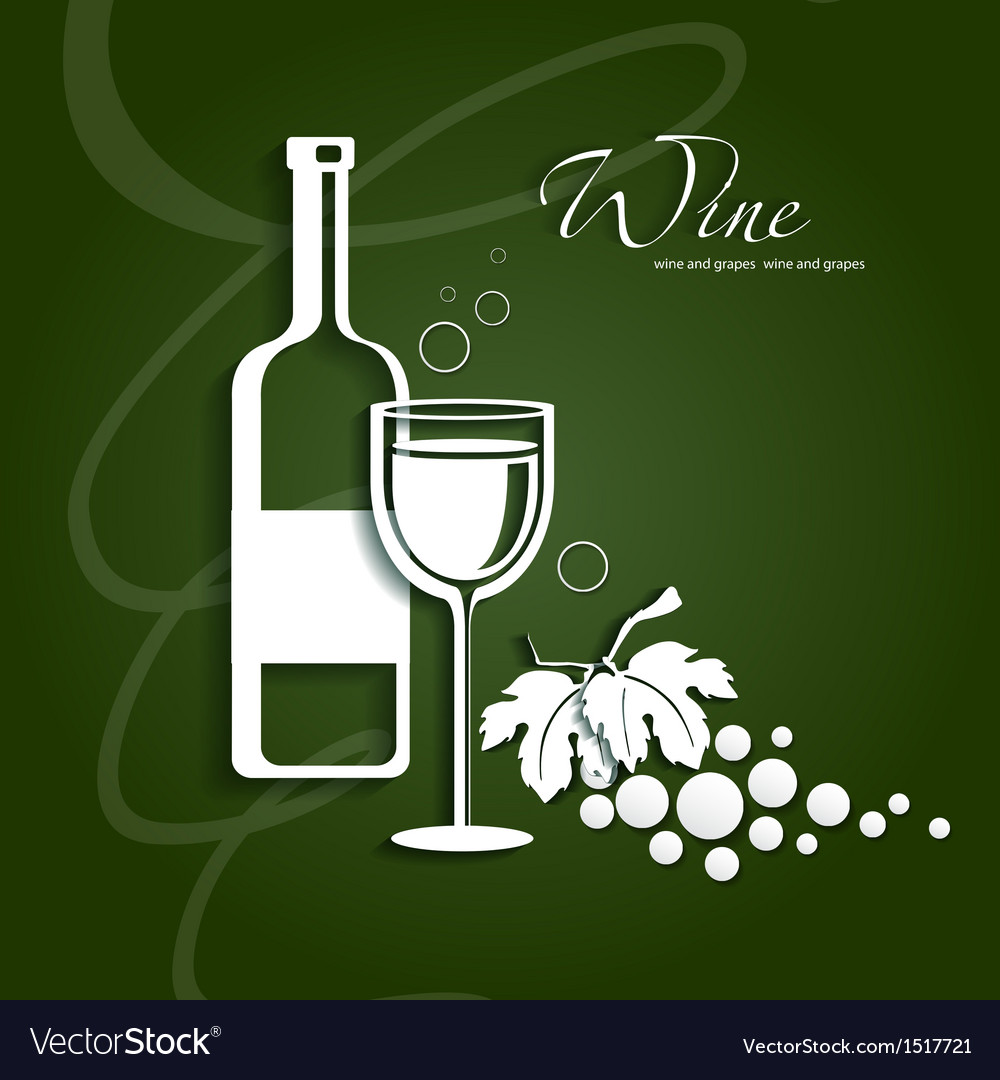 Wine glass and grapes vector | Price: 1 Credit (USD $1)