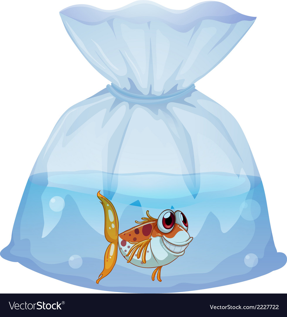 A fish inside the plastic vector | Price: 1 Credit (USD $1)