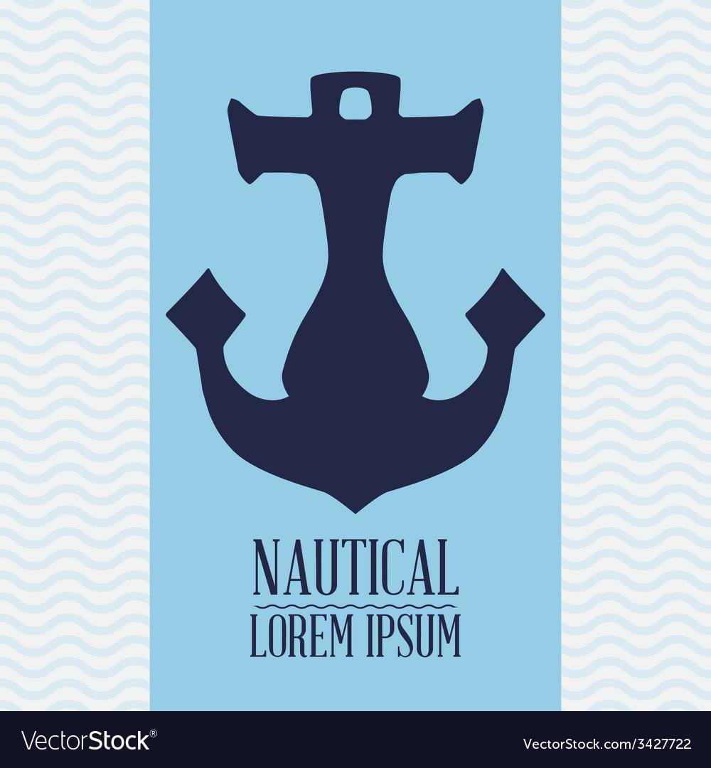 Anchor design vector | Price: 1 Credit (USD $1)