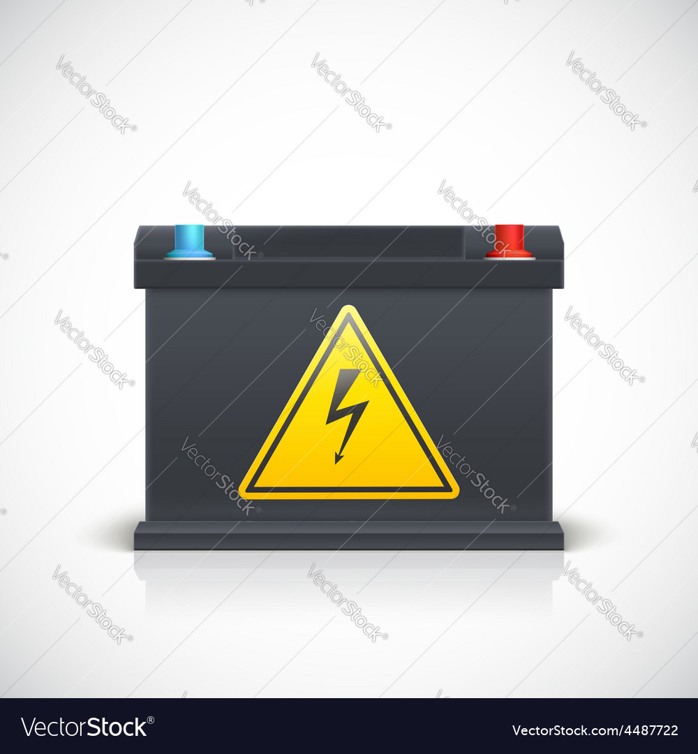 Car battery front view vector   Price: 3 Credit (USD $3)