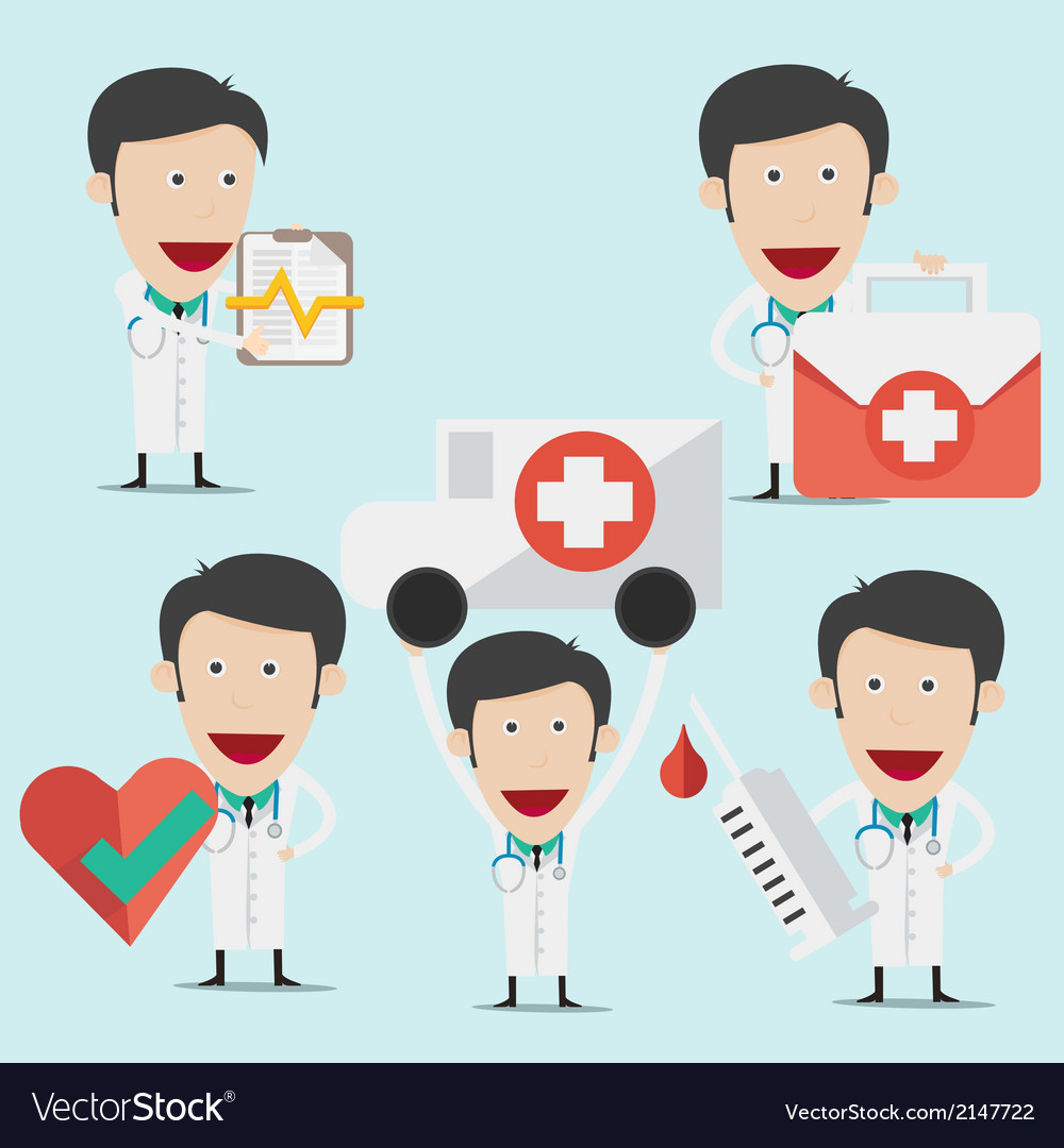 Doctor wearing a medical suit for advertising vector | Price: 1 Credit (USD $1)