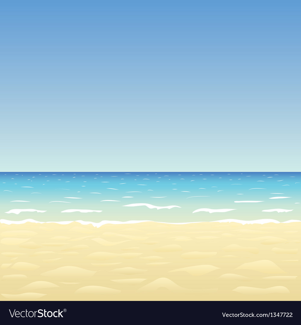 Ocean sand beach vector | Price: 1 Credit (USD $1)