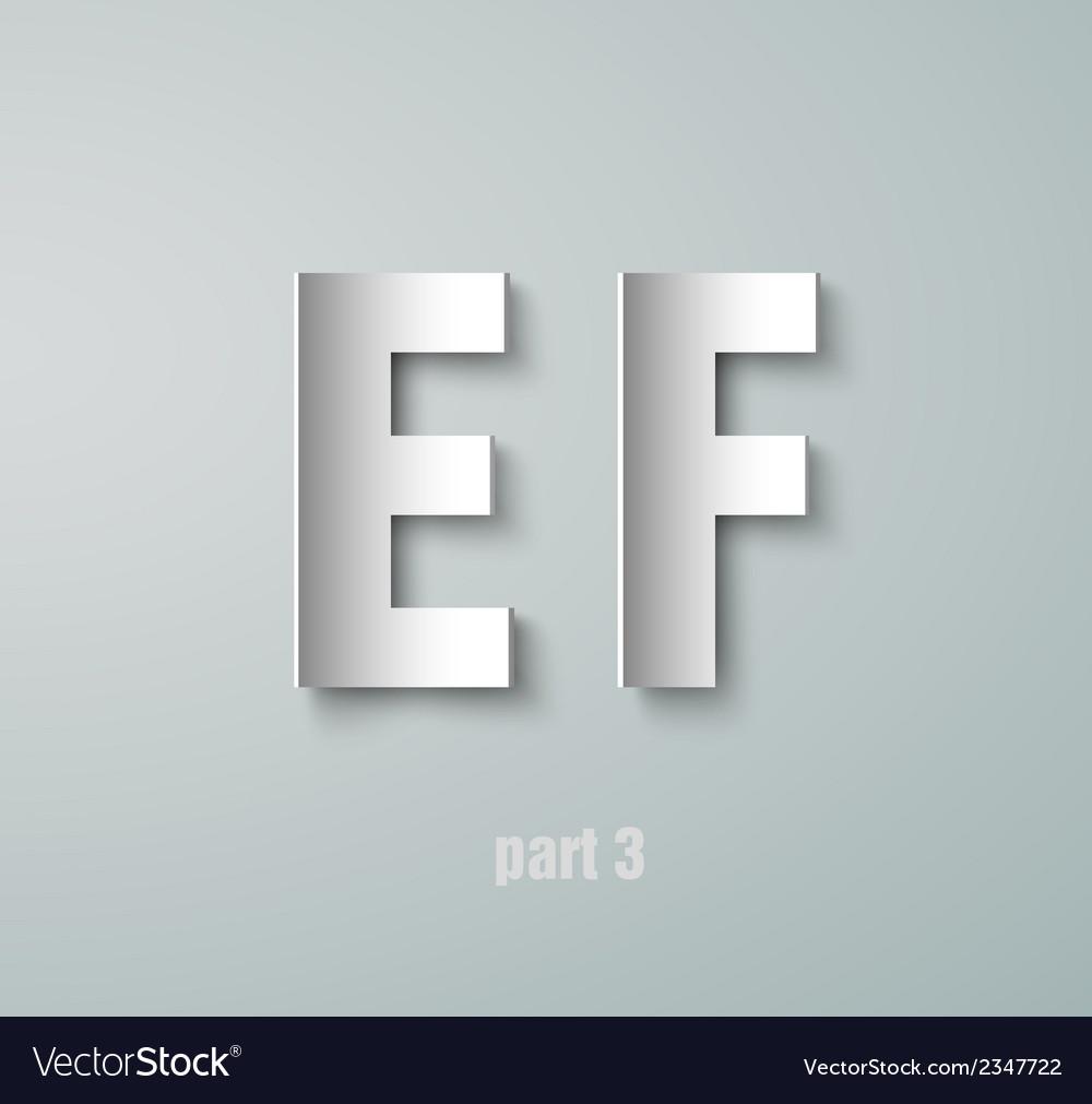 Paper graphic alphabet vector | Price: 1 Credit (USD $1)