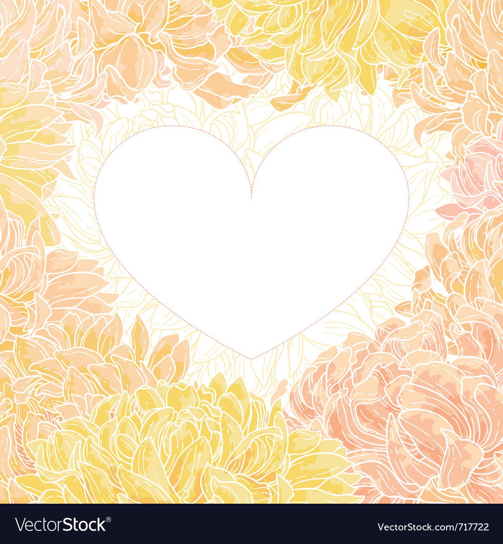 Romantic heart-frame vector | Price: 1 Credit (USD $1)