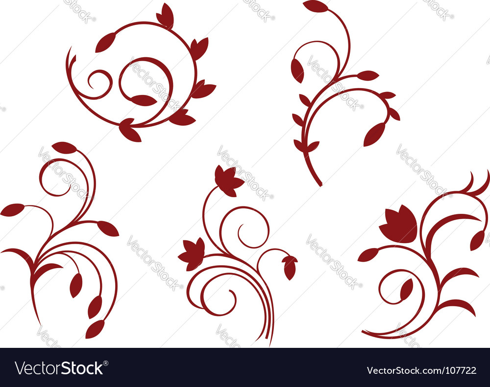 Simplicity floral decorations vector | Price: 1 Credit (USD $1)