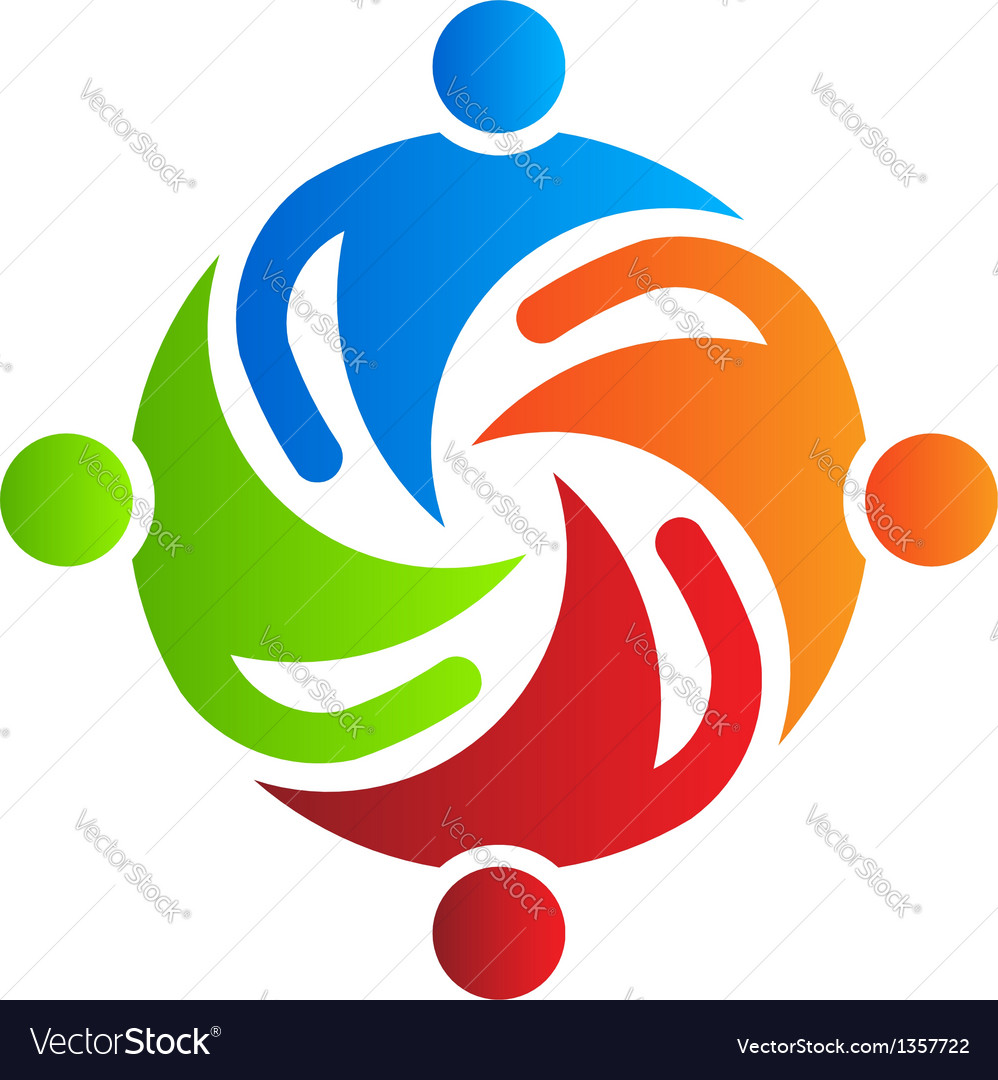Team together 4 logo design element vector | Price: 1 Credit (USD $1)
