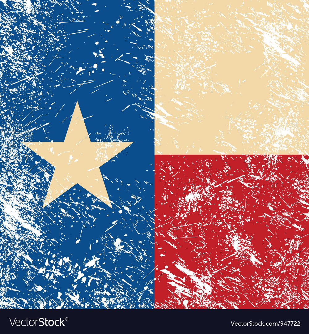 Texas retro flag vector | Price: 1 Credit (USD $1)