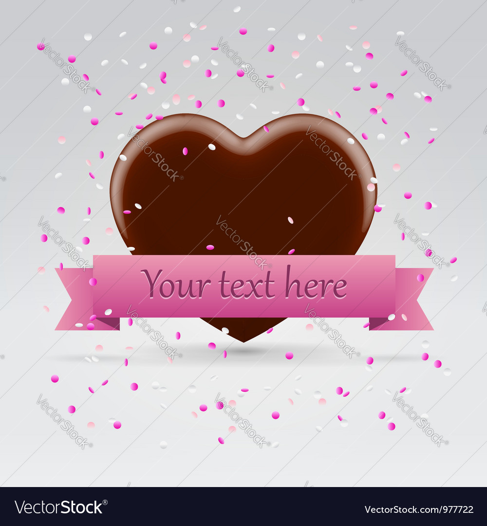 Valentines day chocolate sweet heart vector | Price:  Credit (USD $)