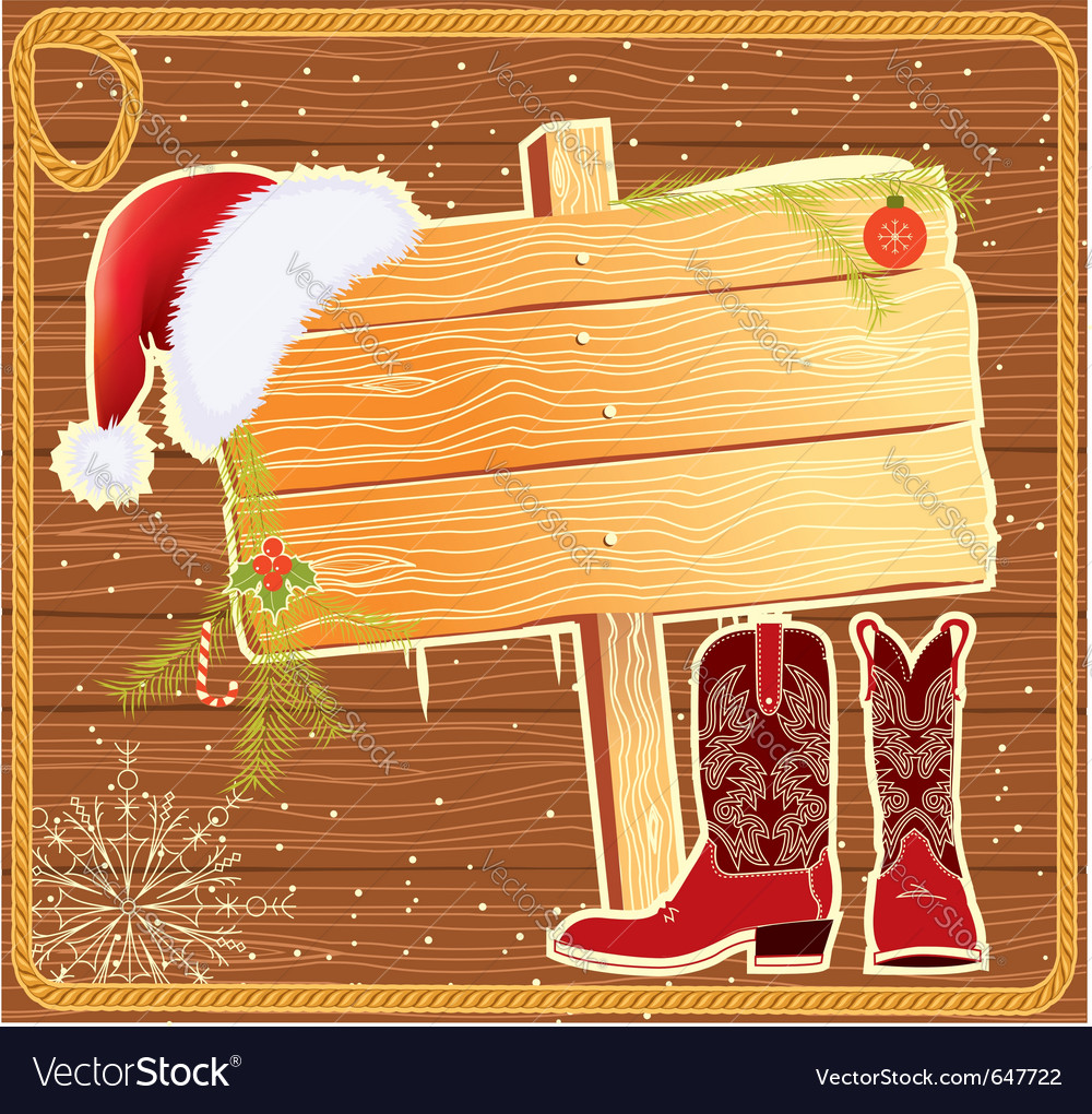 Western christmas vector | Price: 1 Credit (USD $1)