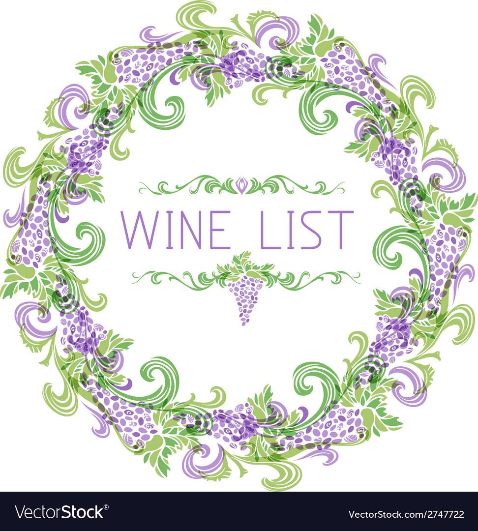 Wine list design vector   Price: 1 Credit (USD $1)