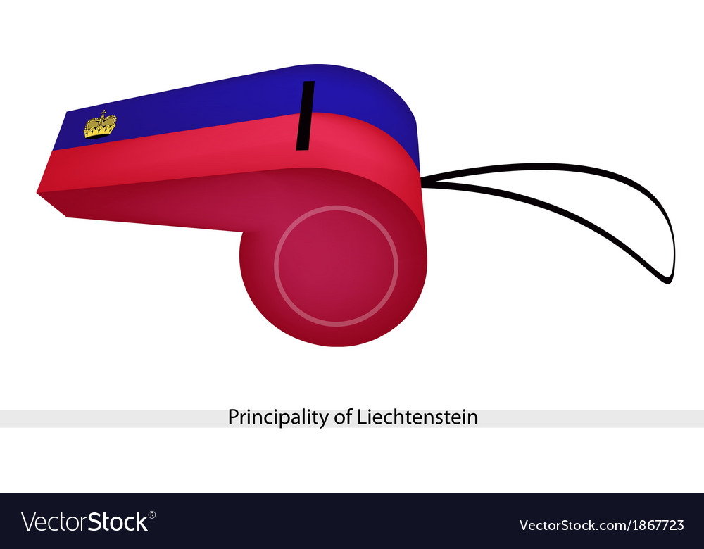 A whistle of the principality of liechtenstein vector | Price: 1 Credit (USD $1)