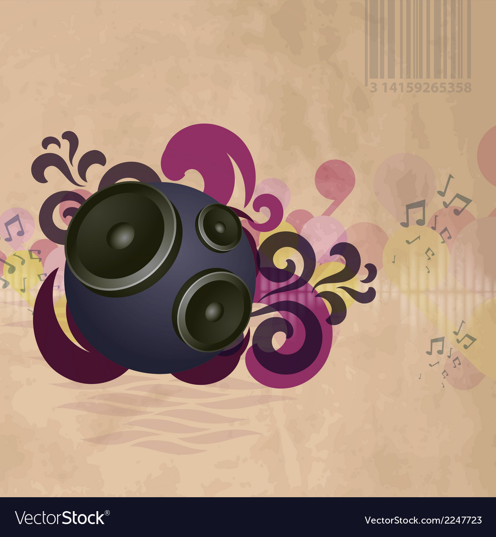 Abstract vintage music background vector | Price: 1 Credit (USD $1)