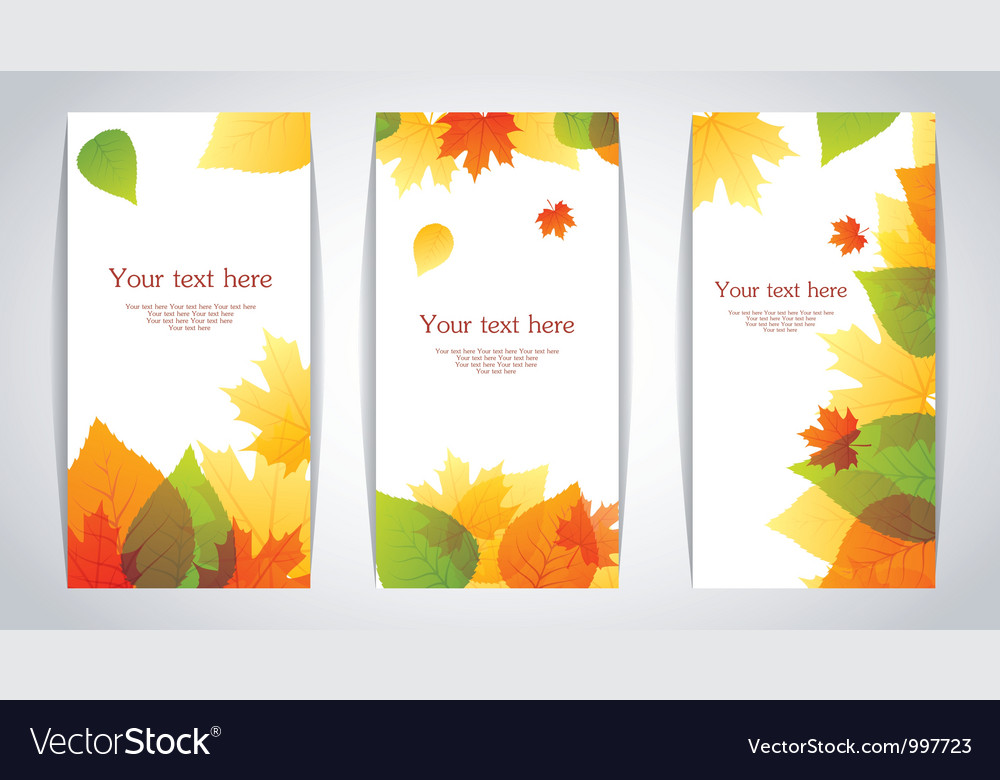 Banners autumn leafs vector | Price: 1 Credit (USD $1)